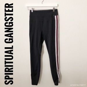 Spiritual Gangster Black Striped Pants